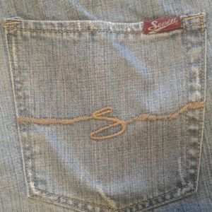 Seven jeans men's relaxed distressed platinum